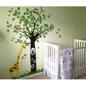 Big Tree With Giraffe Wall Decal Part 94