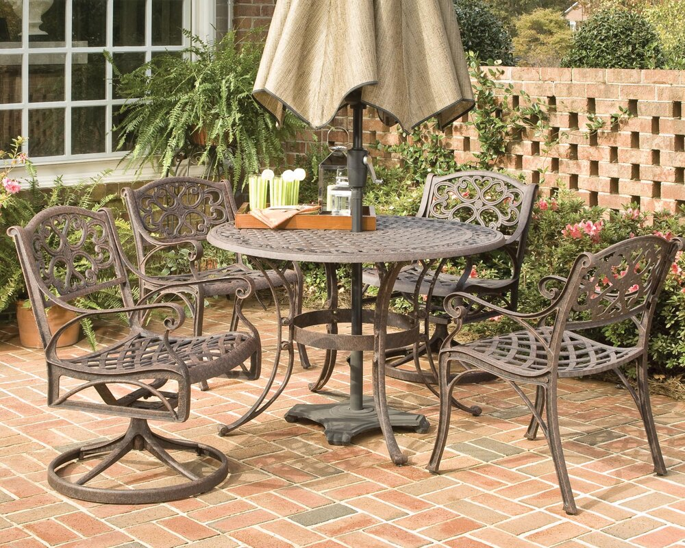 Astoria Grand Van Glider Swivel Patio Dining Chair ...