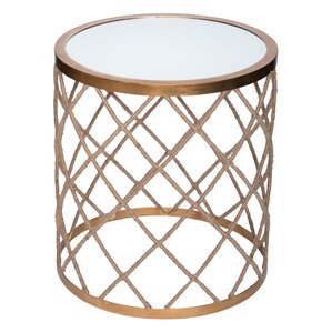 Halifax Rope Wrapped Mirrored End Table by W..