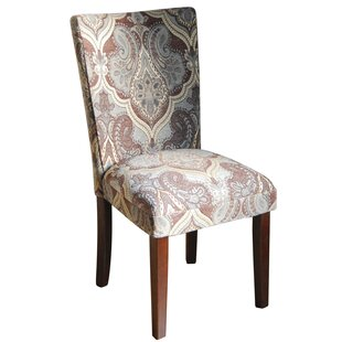 Bower Upholstered Damask Parsons Chair (Set Of 2)