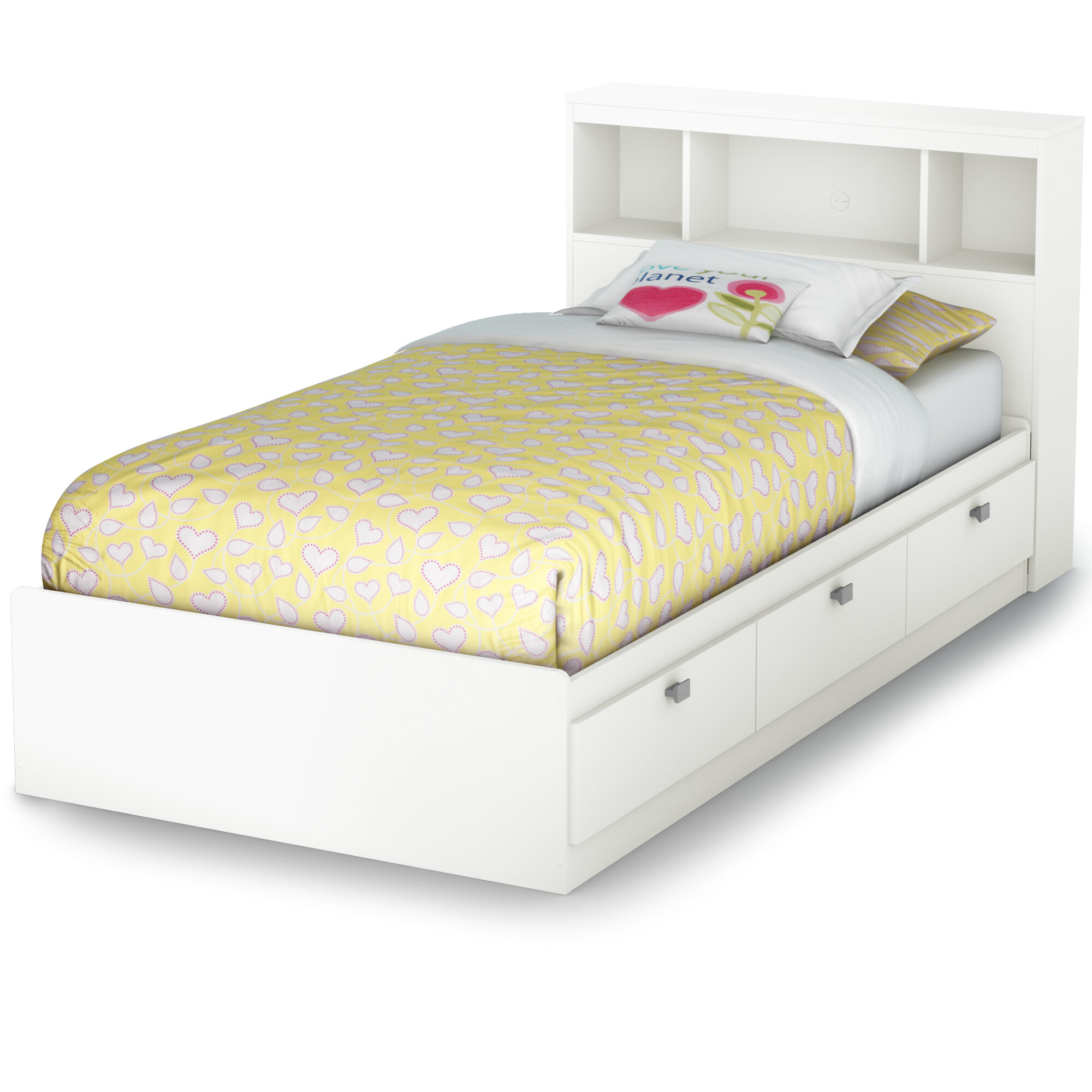 South S Spark Twin Mate Captain Bed With Headboard Reviews Wayfair