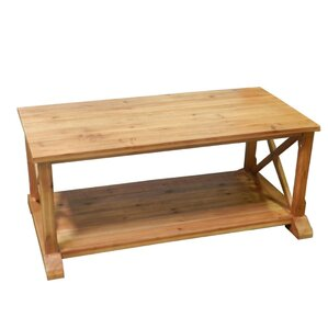 Burlington Wooden Coffee Table by Rosecliff Heights