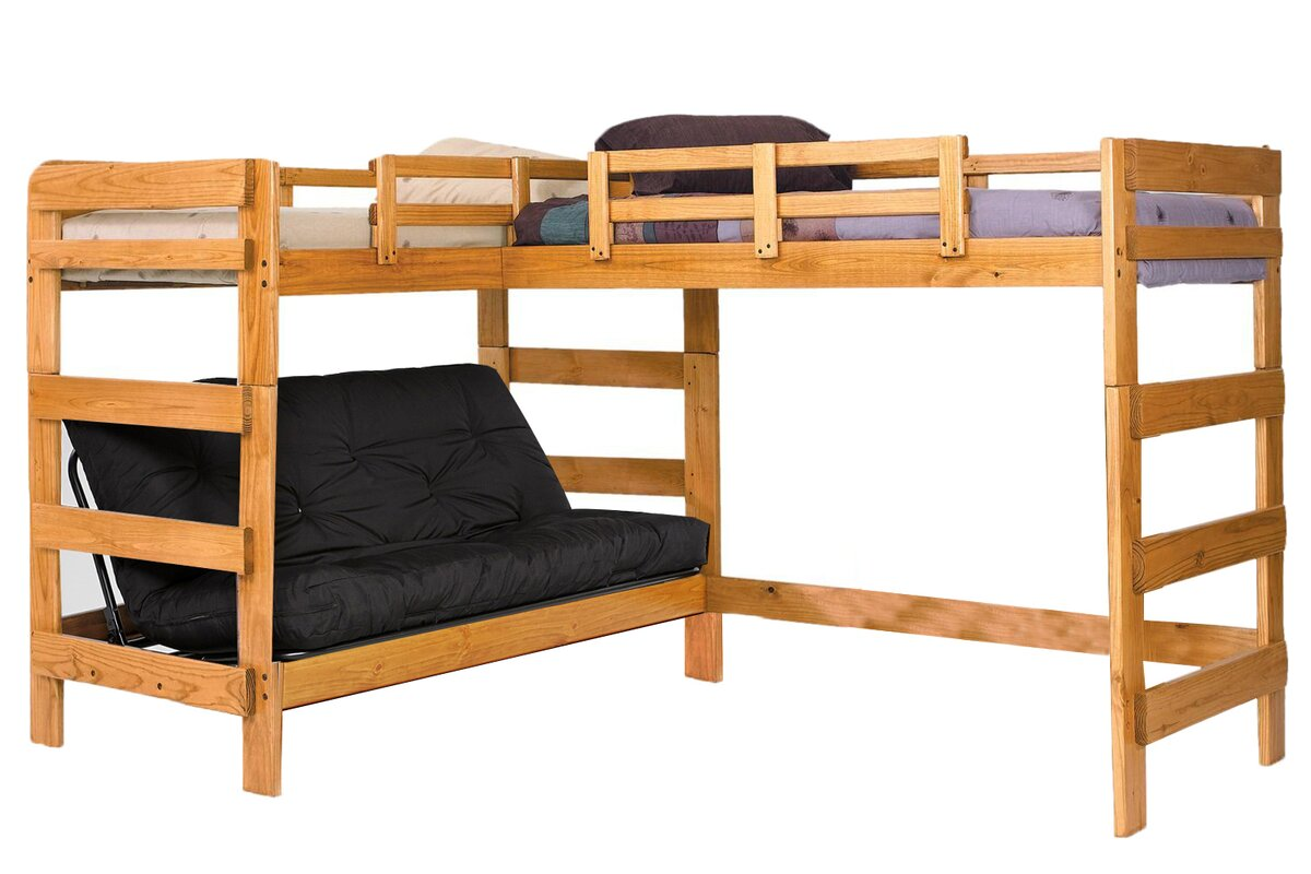 Chelsea Home Twin Over Full L-Shaped Bunk Bed & Reviews ...