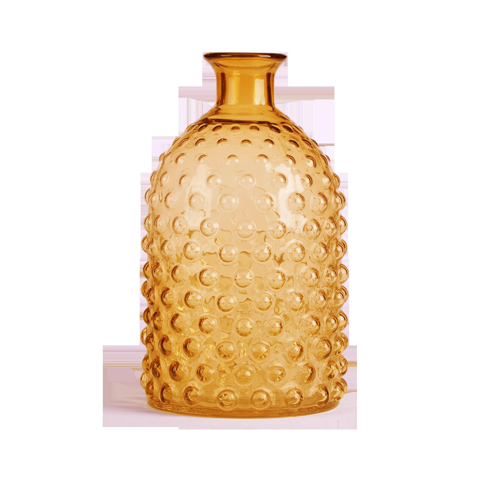 Glitzhome Hobnail Tabletop Glass Vase | Wayfair