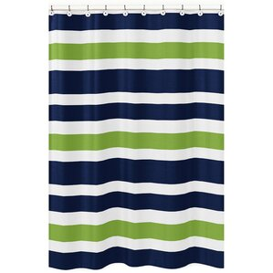 navy blue shower curtain hooks. Stripe Brushed Microfiber Shower Curtain Green Curtains You ll Love