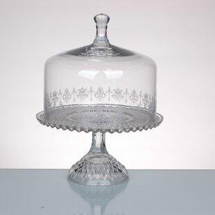 Cake Plate with Lid & Glass Cake Dome Lid | Wayfair