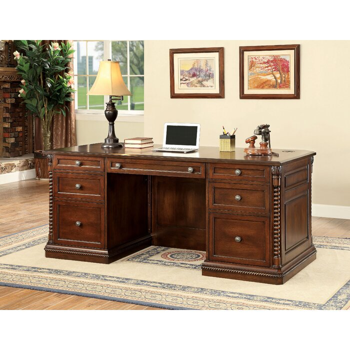 Phenomenal Ardnaglass Traditional Wood Executive Desk Home Interior And Landscaping Synyenasavecom