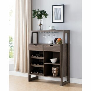 Northwood Stylish Wooden Bar with Wine Storage