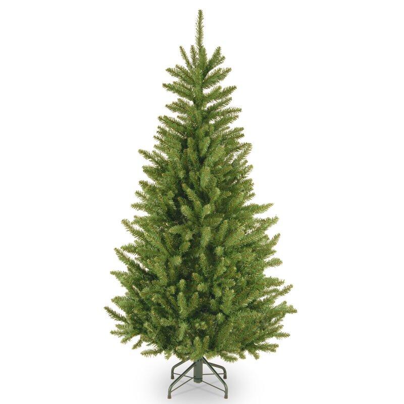 Next Slim Christmas Tree: Red Barrel Studio Slim 4.5' Green Fir Artificial Christmas