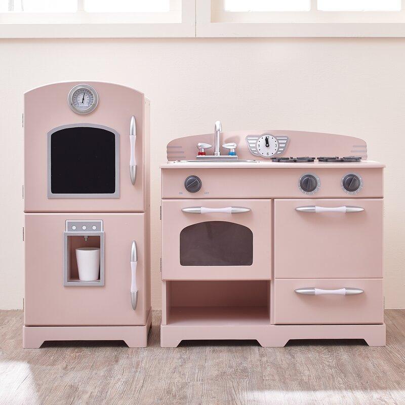 Teamson Kids 2 Piece Wooden Play Kitchen Set & Reviews | Wayfair