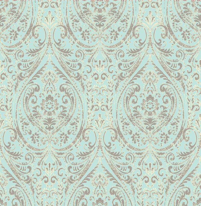 Brewster Home Fashions Kismet Gypsy 33 x 205 Damask 3D Embossed