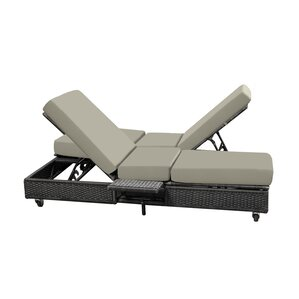 Catalina Double Chaise Lounge with Cushion  sc 1 st  Wayfair & Double Patio Chaise Lounge Chairs Youu0027ll Love | Wayfair islam-shia.org