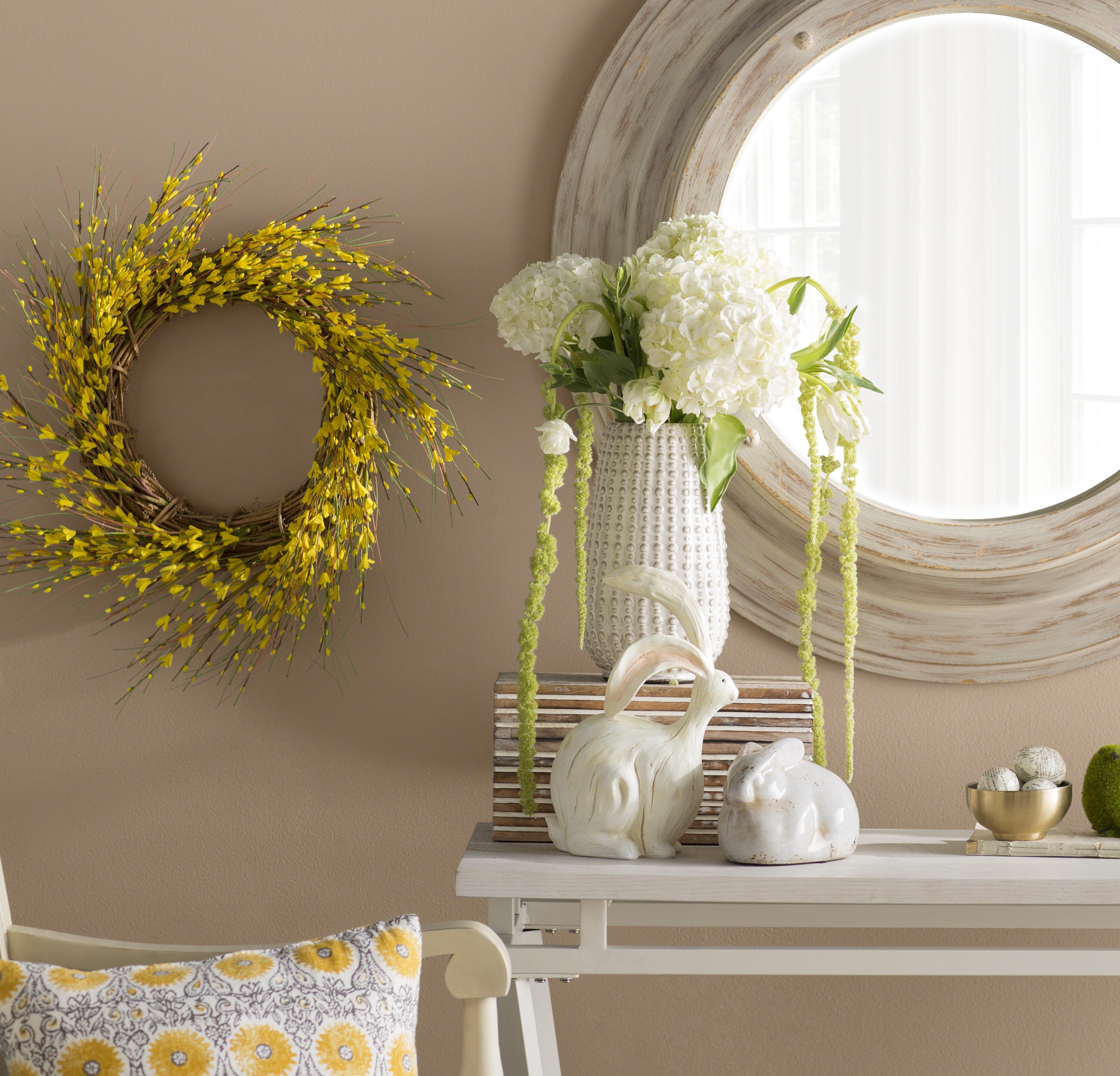 August Grove Faux Forsythia Wreath & Reviews