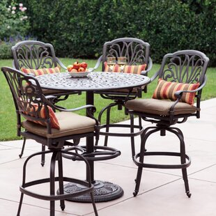 bar height patio sets wayfair rh wayfair com Patio Pub Table Set High Top Patio Table and Chairs