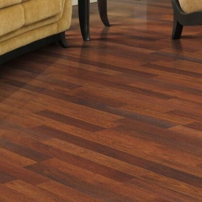 Genova 6 X 54 8mm Merbau Laminate Flooring In Natural Plank