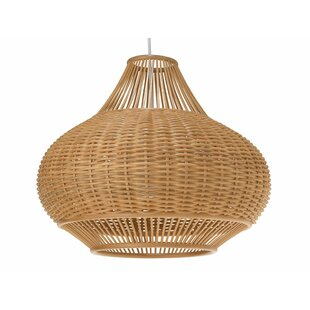 Wicker Pear 1 Light Globe Pendant