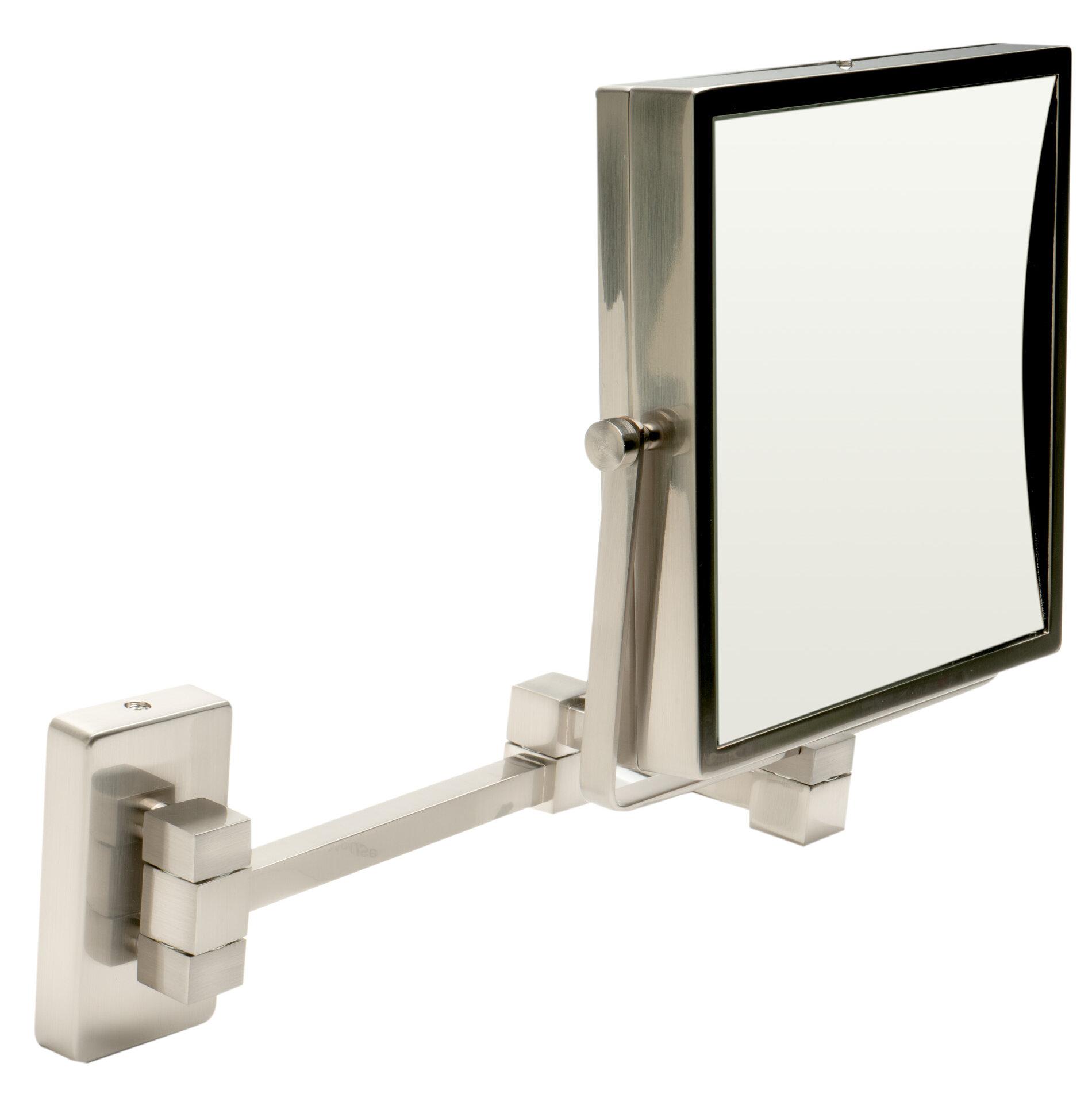 Square Wall Mounted Magnifying Makeup Shaving Mirror