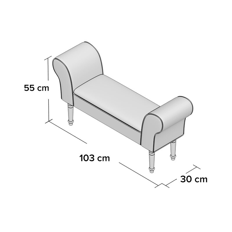 fairmont park gepolsterte sitzbank tunbridge wells. Black Bedroom Furniture Sets. Home Design Ideas