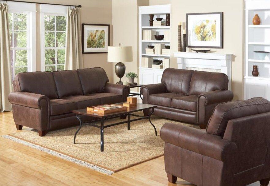 Williston Forge Creech Genuine Leather Sofa & Reviews | Wayfair