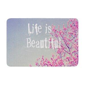 Rachel Burbee Life is Beautiful Memory Foam Bath Rug