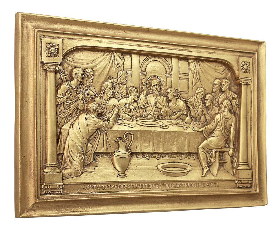 Design Toscano Jesus and the Apostles\' Last Supper Wall Décor ...