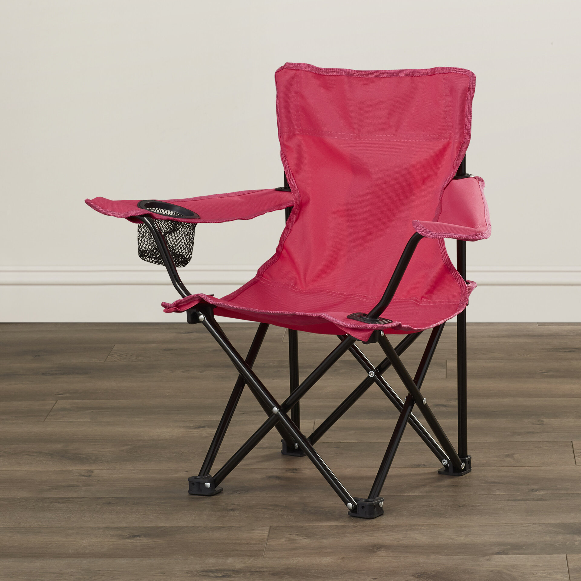 Zoomie Kids Randy Folding Kids Camping Chair With Cup Holder U0026 Reviews |  Wayfair