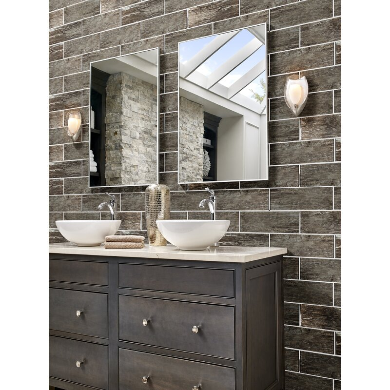 Antico Pewter 4 X 12 Gl Subway Tile In Gray