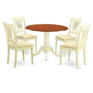 5 Piece Dining Set by East West Furnit..