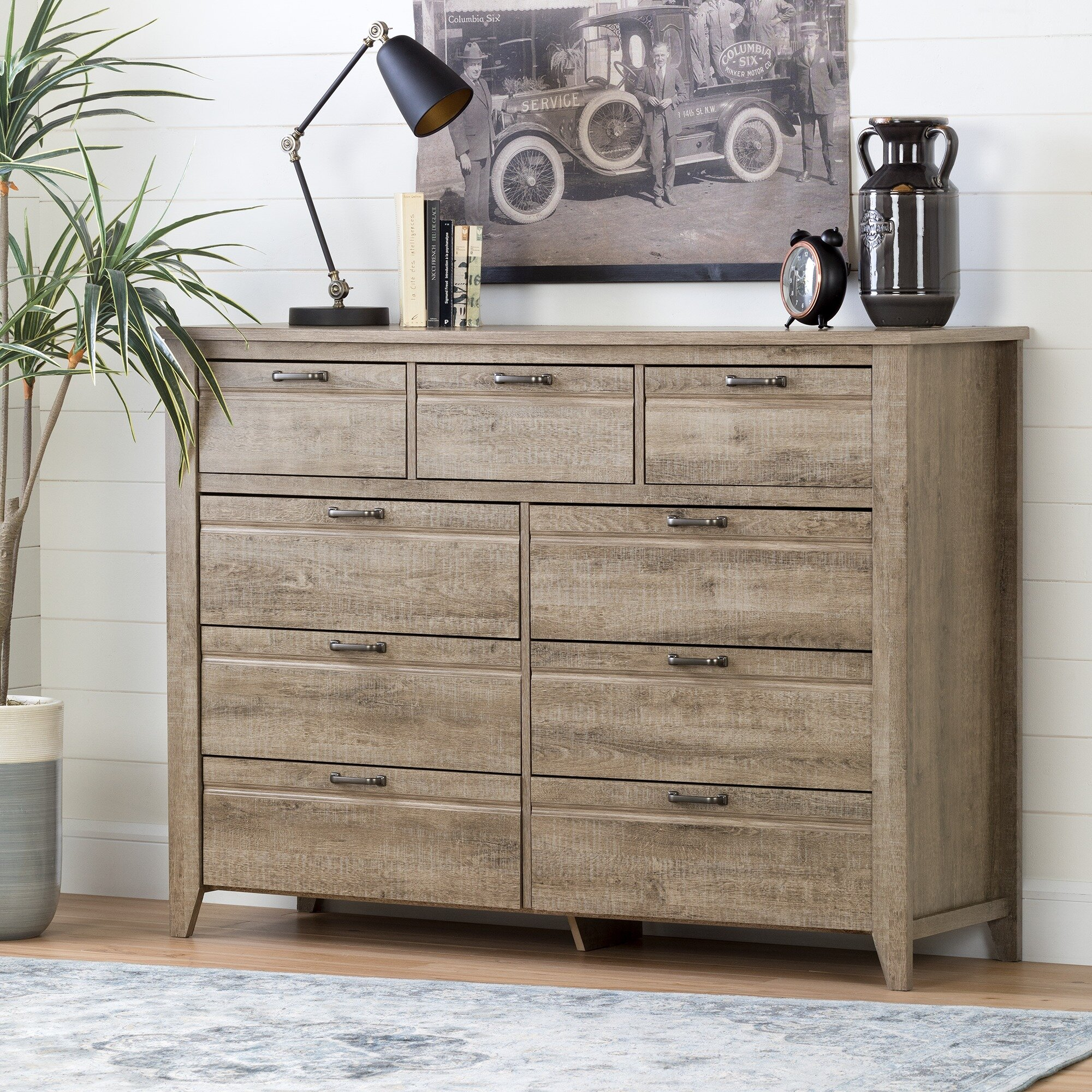 dresser one watch grey double south step gray drawer noble top shore maple dressers