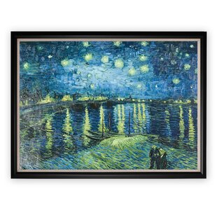 84041c84308  Starry Night Over Rhone  Black Framed Oil Painting Print on Canvas