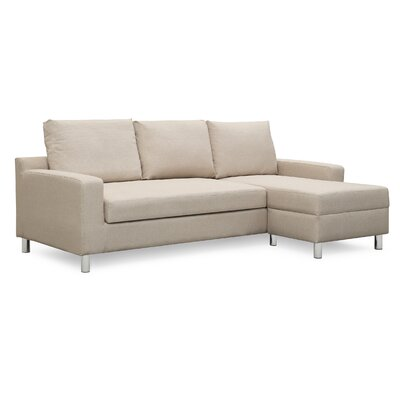 Wrought Studio Falgoust Sectional Upholstery Color: Beige, Orientation: Right Hand Facing