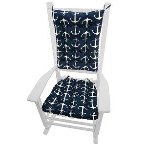 Coastal Outdoor Rocking Chair Cushion