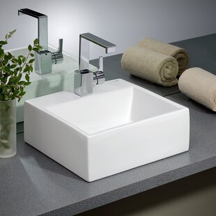Jacuzzi Anna Farmhouse White Drop-in Rectangular Bathroom Sink with Overflow