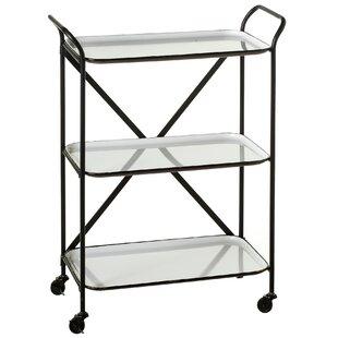 3 tier bar cart tier metal albinson enamelware tier bar cart wayfair