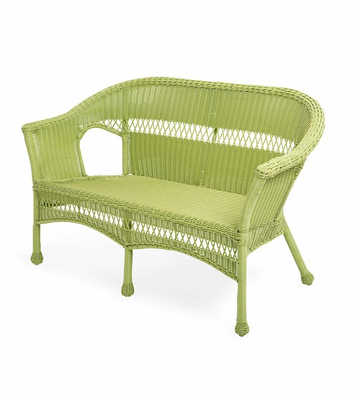 Plow And Hearth Furniture: Plow & Hearth Wicker Loveseat & Reviews