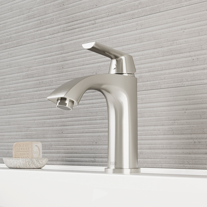VIGO Penela Single Hole Bathroom Faucet with Optional Drain Assembly ...