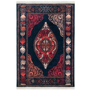 Hula Red/Black Rug by Vallila