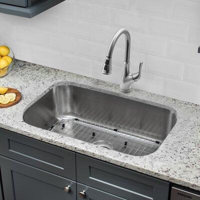 "Low Profile Undermount Bathroom Sink soleil 18 gauge stainless steel 29.13"" x 18.5"" double basin"