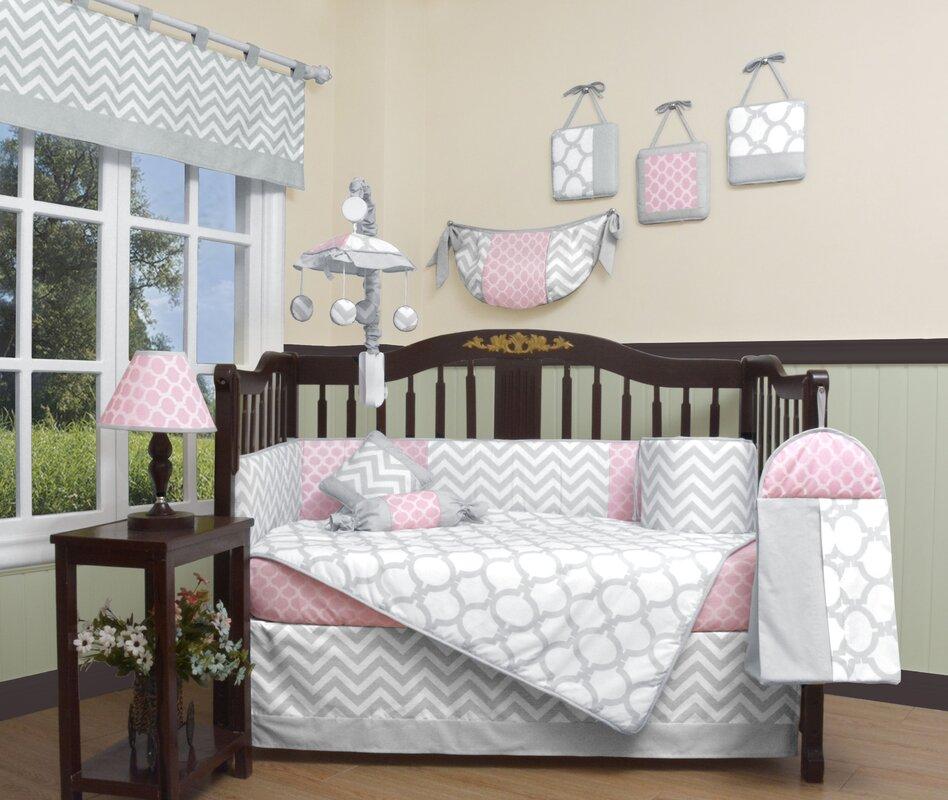 Geenny Chevron 13 Piece Crib Bedding Set Amp Reviews Wayfair