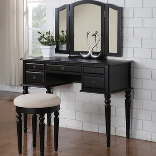 black vanity desk with mirror. Save Black Vanity Tables You Ll Love  Wayfair