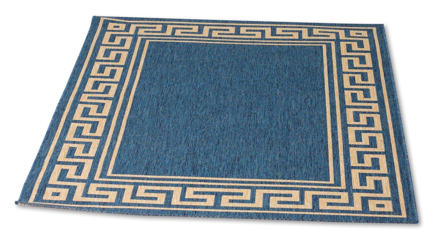 rgsk patio blue gold area rug reviews. Black Bedroom Furniture Sets. Home Design Ideas