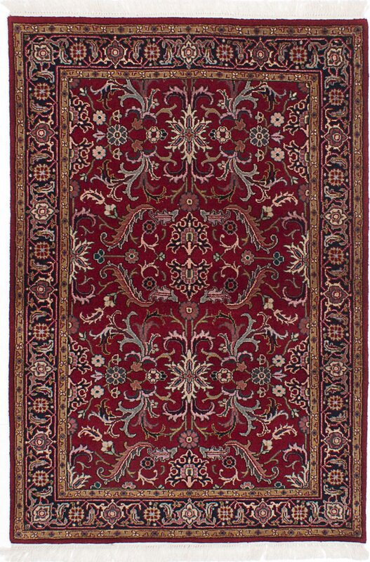 Royal Kashan Hand Knotted Dark Red Area Rug