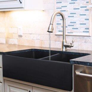 Black Stainless Farmhouse Sink | Wayfair