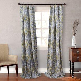 Olive Damask Semi Sheer Curtain Panels Set Of 2
