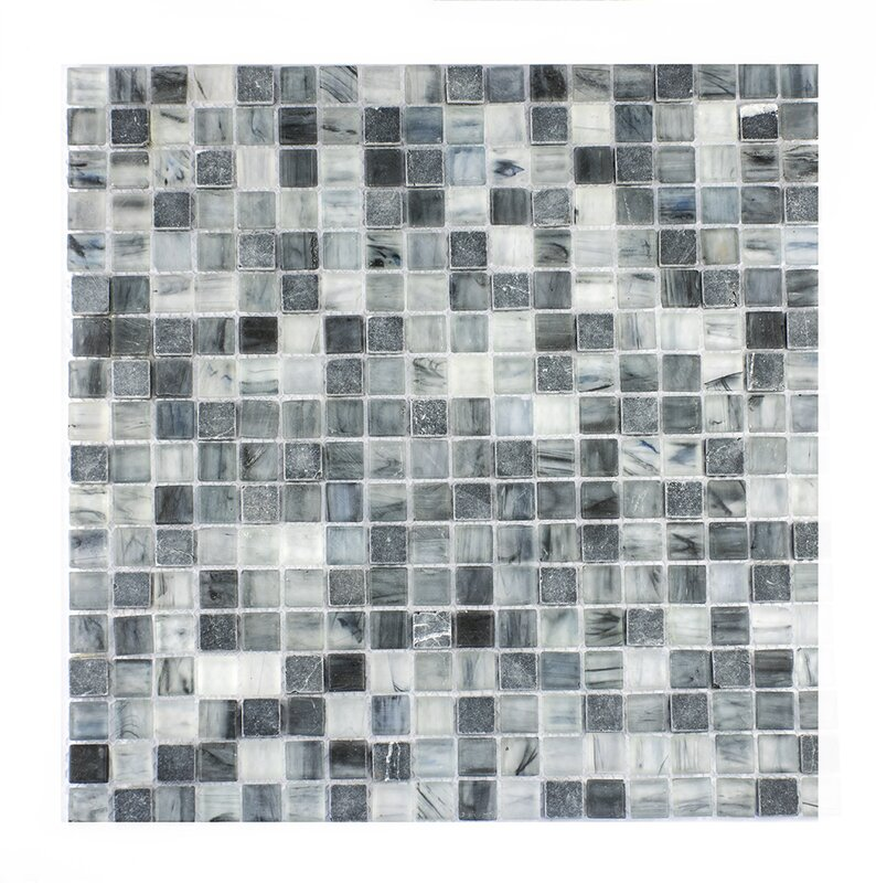 Piazza 0 5 X Gl Mosaic Tile In Dark Blue Gray