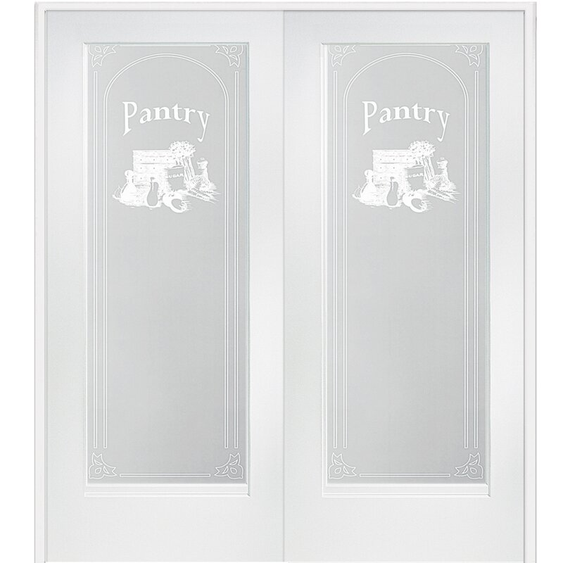 Pantry MDF Primed Interior French Door