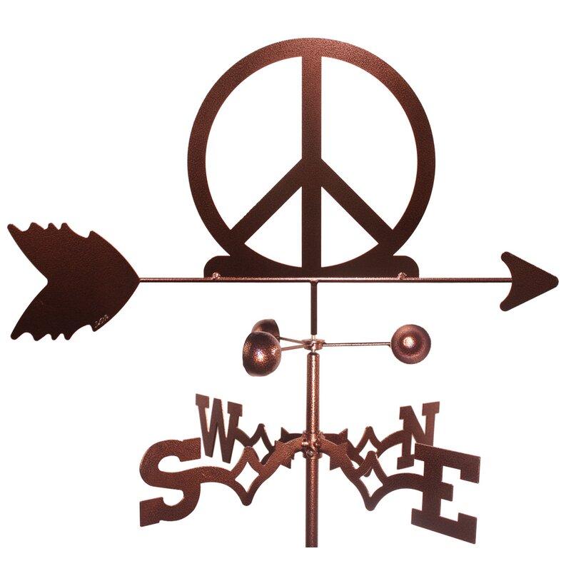 Swenproducts Peace Sign Symbol Woodstock Weathervane Reviews Wayfair