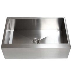 "Stainless Steel Farmhouse Kitchen Sinks emodern decor ariel 33"" x 21"" stainless steel single bowl"