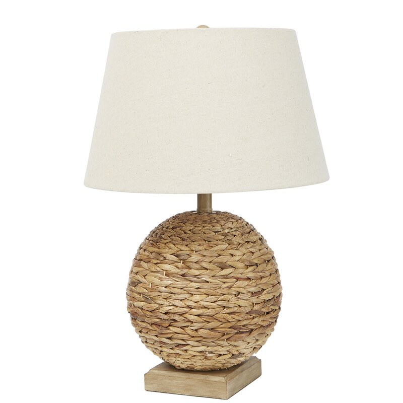 Smithey Rattan 24 Round Table Lamp Base
