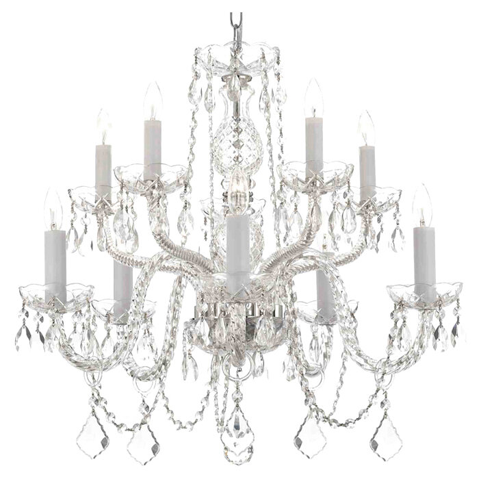 Willa Arlo Interiors Amandine 10 Light Led Candle Style Chandelier